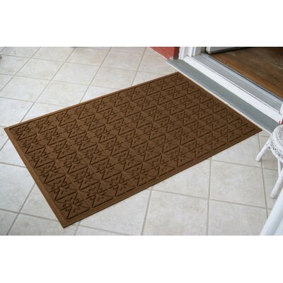 Aqua Shield Dark Brown Star Quilt Mat Size: 3 x 5