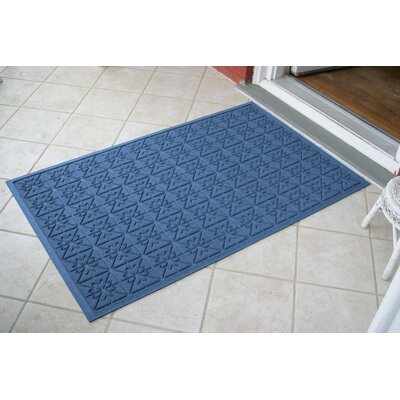 Aqua Shield Medium Blue Star Quilt Mat Size: 3 x 5