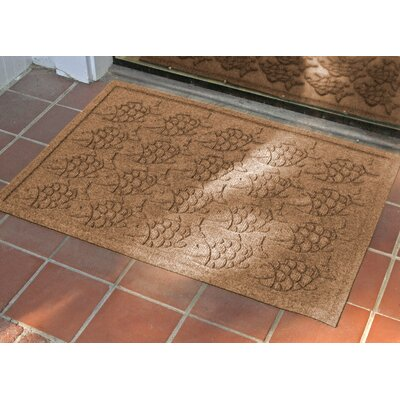 Aqua Shield Tropical Fish Doormat Color: Medium Brown, Rug Size: Rectangle 2 x 3