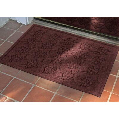 Aqua Shield Tropical Fish Doormat Mat Size: Rectangle 22 x 60, Color: Bordeaux