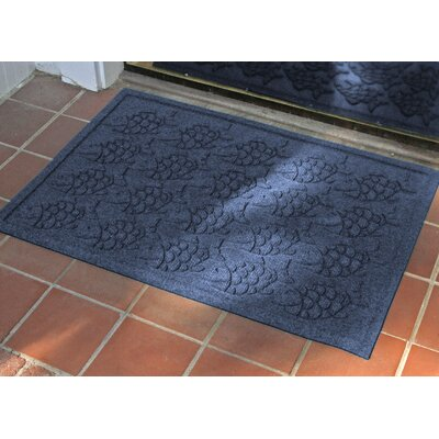Aqua Shield Tropical Fish Doormat Color: Navy, Rug Size: 2 x 3