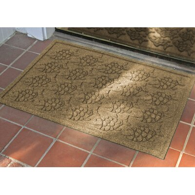 Aqua Shield Tropical Fish Doormat Color: Gold, Rug Size: Rectangle 2 x 3
