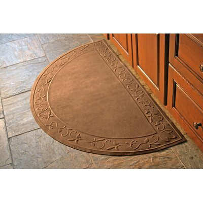 Soft Impressions Vine Doormat Rug Size: Half Oval 29 x 51, Color: Montego Chocolate