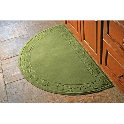 Soft Impressions Vine Doormat Rug Size: Half Oval 29 x 51, Color: Montego Green