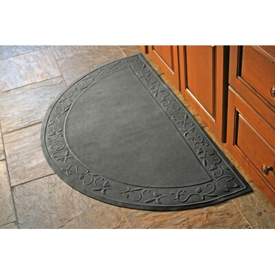 Soft Impressions Vine Doormat Rug Size: Half Oval 29 x 51, Color: Charcoal