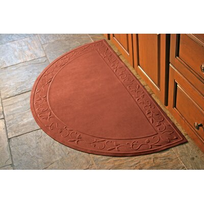 Soft Impressions Vine Doormat Rug Size: Half Oval 29 x 51, Color: Montego Pepper