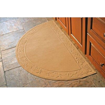 Deidre Vine Doormat Rug Size: Half Oval 29 x 51, Color: Montego Latte