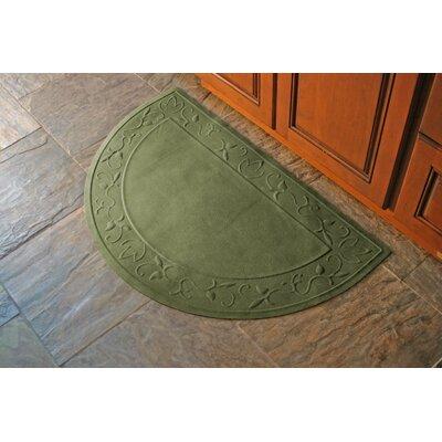 Soft Impressions Vine Doormat Rug Size: Half Oval 24 x 39, Color: Montego Green