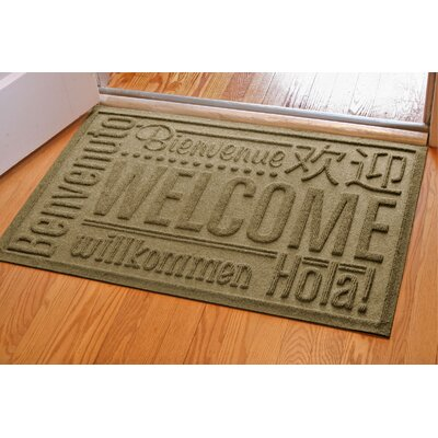 Aqua Shield World Wide Doormat Color: Camel, Mat Size: Rectangle 2 x 3