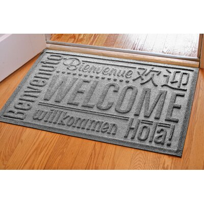 Aqua Shield World Wide Doormat Color: Medium Grey, Mat Size: Rectangle 2 x 3