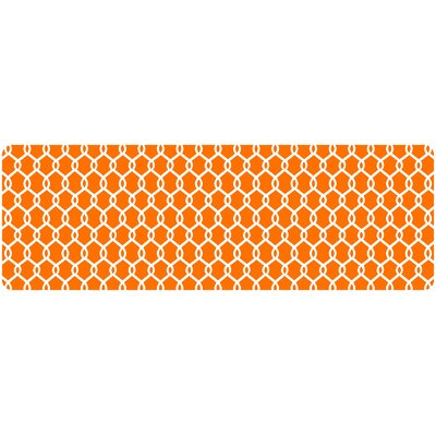 Chain Link Decorative Kitchen Mat Color: Tangerine, Rug Size: 22 x 52