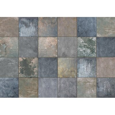 Fo Flor Clean Slate Doormat Mat Size: 46 x 66, Color: Cool