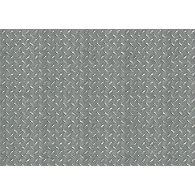 Fo Flor Diamond Plate Doormat Rug Size: 23 x 36, Color: Grey