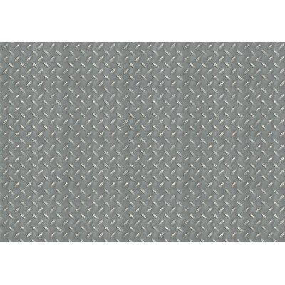 Fo Flor Diamond Plate Doormat Rug Size: 25 x 60, Color: Grey
