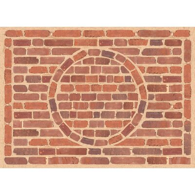 Fo Flor Framed Brick Doormat Mat Size: 25 x 60, Color: Multi