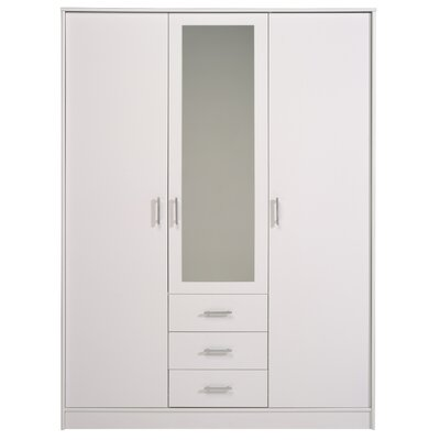 Matos 3 Door Wardrobe Armoire Color: White