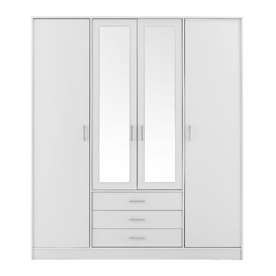 Matos 4 Door Wardrobe Armoire Color: White