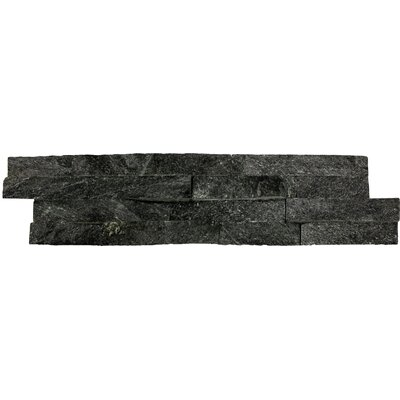 Random Sized Natural Stone Splitface Tile in Textured Black