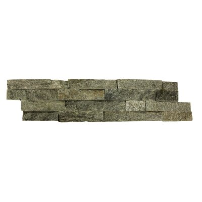 Random Sized Natural Stone Splitface Tile in Textured Green