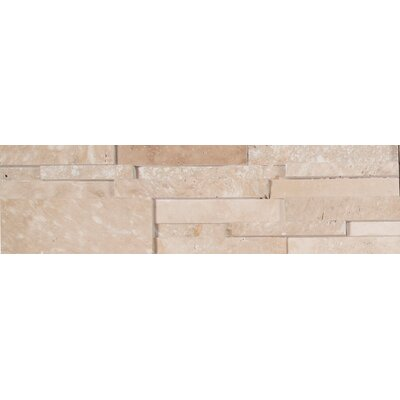 Random Sized Travertine Splitface Tile in Honed Durango Cream