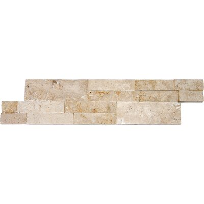 6 x 24 Travertine Splitface Tile in Roman Beige