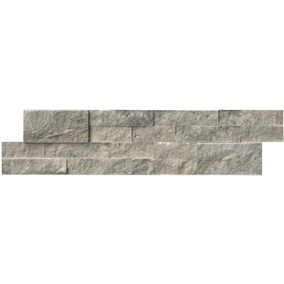 6 x 24 Travertine Splitface Tile in Silver (Set of 3)