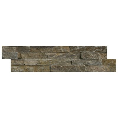 Canyon Creek 6 x 24 Panel Random Sized Natural Stone Splitfaced Tile in Gray (Set of 3)