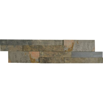 Rustic 6 x 24 Panel Random Sized Natural Stone Splitfaced Tile in Gold