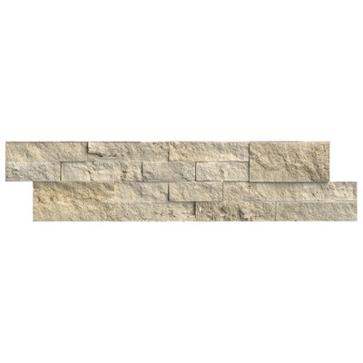 Tuscany 6 x 24 Panel Random Sized Natural Stone Splitfaced Tile in Beige (Set of 3)