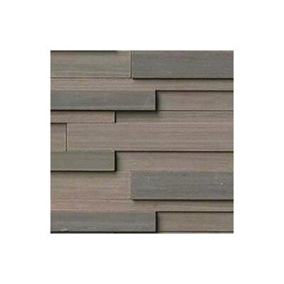 Wave 6 x 24 3D Honed Panel Random Sized Natural Stone Splitfaced Tile in Brown (Set of 3)