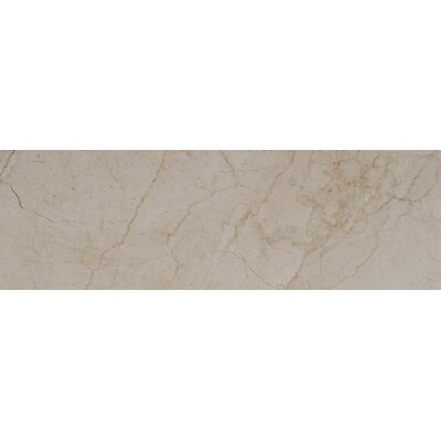 4 x 12 Marble Tile in Cream Marfil