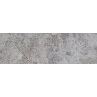 4 x 12 Marble Tile in Tundra Gray