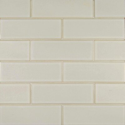 4 x 12 Glazed Ceramic Tile in Antique White
