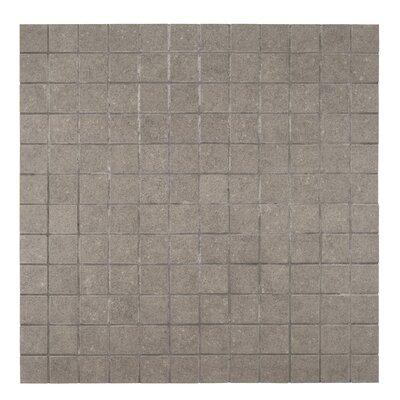 2 x 2 Porcelain Mosaic Tile in Glazed Gray