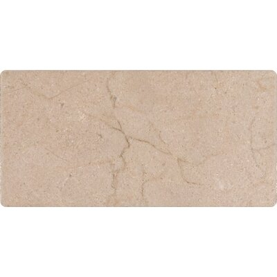 3 x 6 Marble Tile in Honed Cream