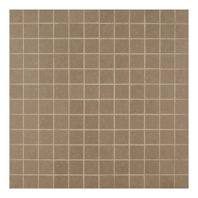 2 x 2 Porcelain Mosaic Tile in Glazed Gray