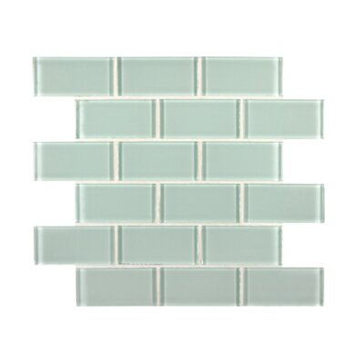 Crystallized 2 x 4 Glass Mosaic Tile in Arctic Ice White