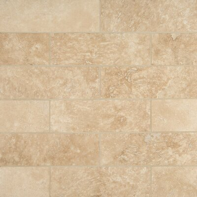 Travertine 4 x 12 Tile in Durango Cream