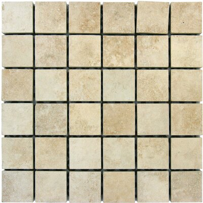Travertine 2 x 2 Porcelain Mosaic Tile in Beige