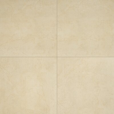 Aria 24 x 24 Porcelain Tile in Glazed Natural Beige