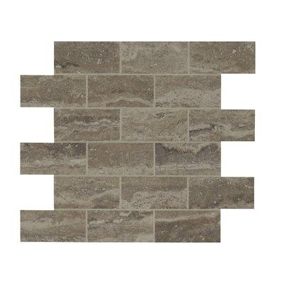 Pietra Venata 2 x 4 Porcelain Mosaic Tile in Gray