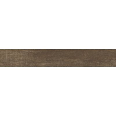 Capella 6 x 40 Porcelain Wood Tile in Dark Brown