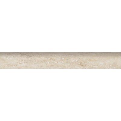 Veneto 24 x 3 Bullnose Tile Trim in White