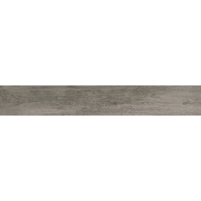 Capella 6 x 40 Porcelain Wood Tile in Neutral Gray