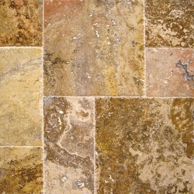Tuscany Scabas Travertine Field Tile in Honed, Unfilled and Chipped Yellow