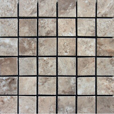 Navona 2 x 2 Porcelain Mosaic Tile in Glazed Brown