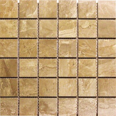 Pietra Royal Porcelain Mosaic Tile in Brown
