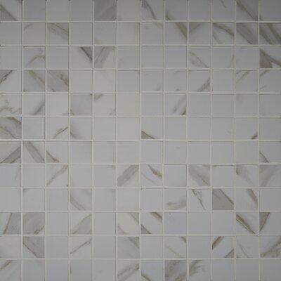 Pietra Calacatta 2 x 2 Porcelain Mosaic Tile in White