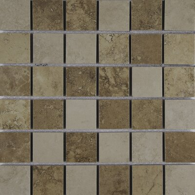 Venice 2 x 2 Porcelain Mosaic Tile in Mixed