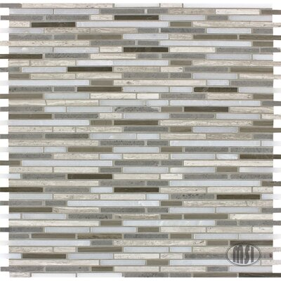 Arctic Storm Bamboo Random Sized Natural Stone Mosaic Tile in Gray